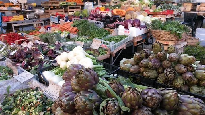 Campo de fiori historical food market