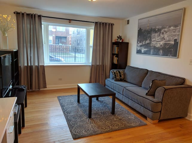 Entire 3BR 2BA Lincoln Square Condo with Parking - Chicago - Wohnung