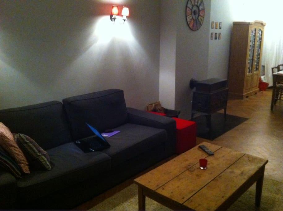 Le coin tranquille pour boire un petit verre en fin de journée ou regarder la télé