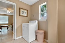 Full size washer & dryer available