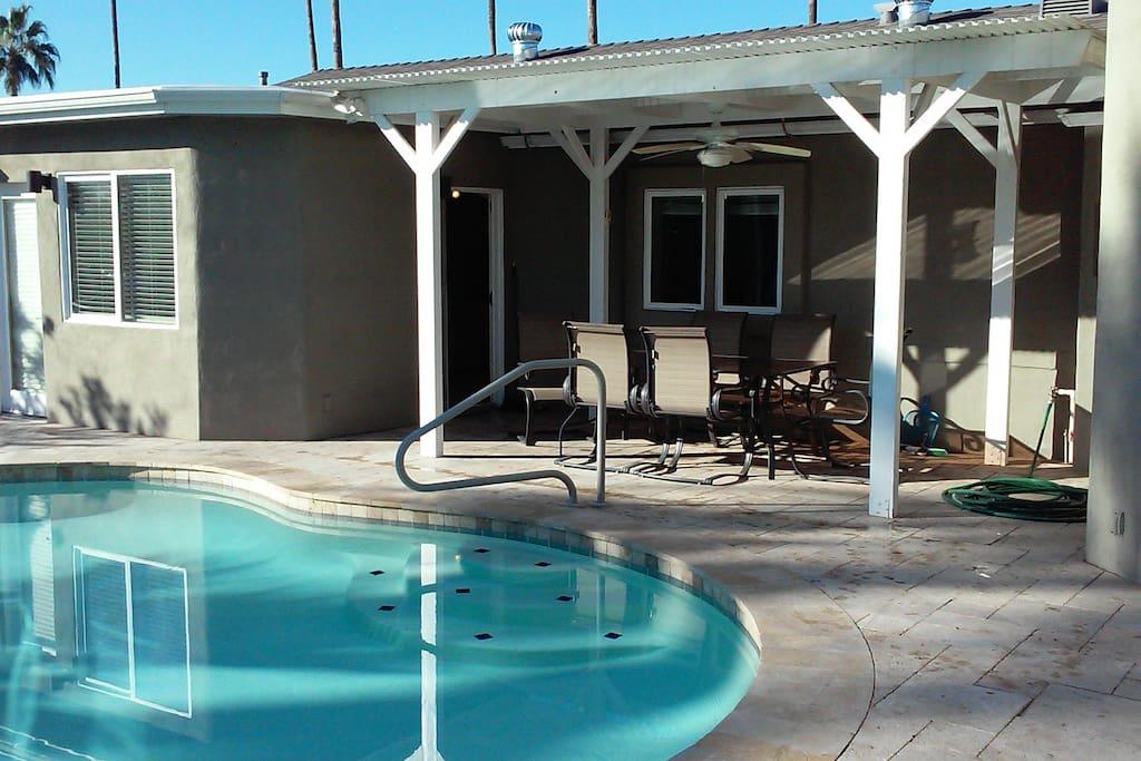 Back yard - pool not heated