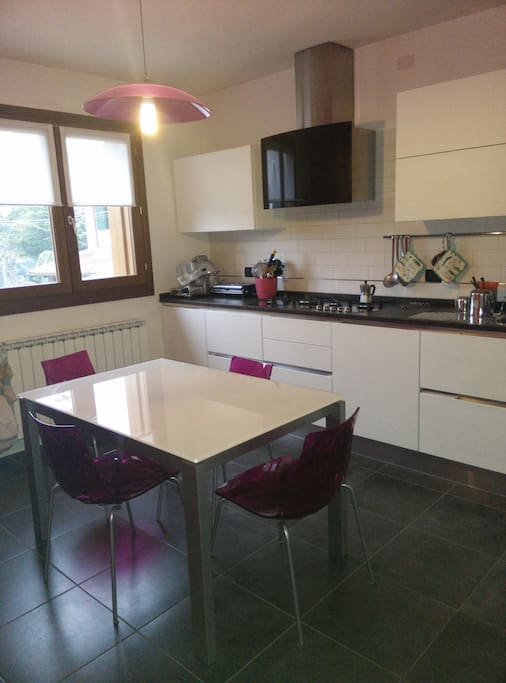Kitchen....20mq and all you need inside, with oven , microwave and washing machine available for you