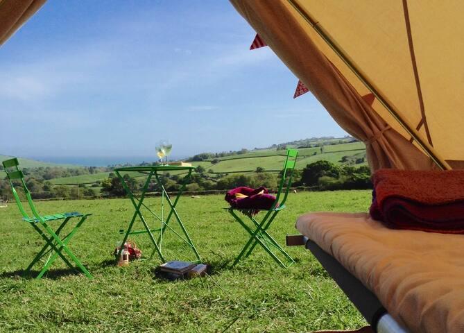 Bell tent camping in West Dorset. 3 meter tent (6)
