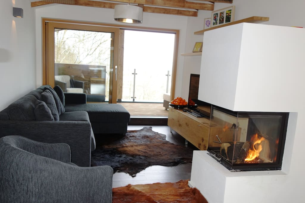 Priv designer chalet 4 bedrooms sch ne chalets zur for Living room zell am see