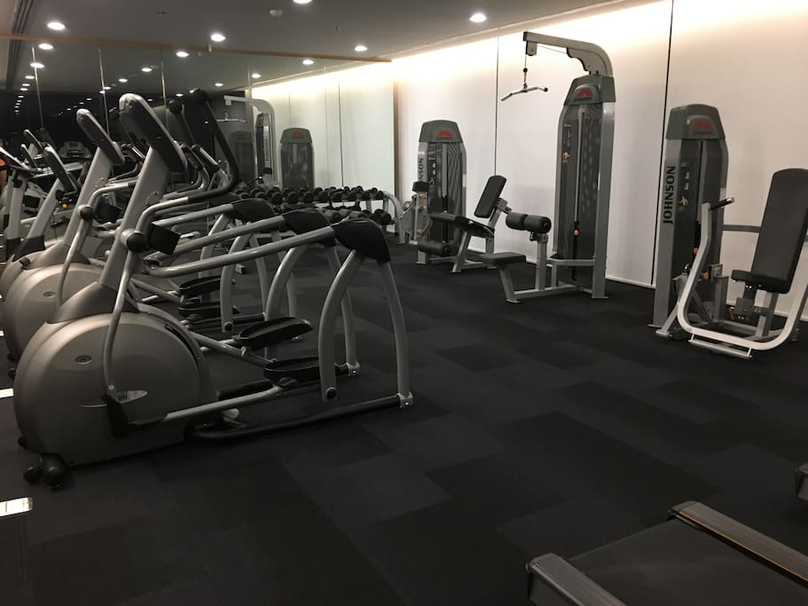 free gym in the top floor
