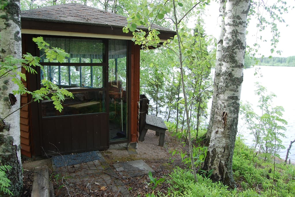 There are three buildings in the same property, always rented together. This is the Summer kitchen or as we like to call it, the Grill Hut.