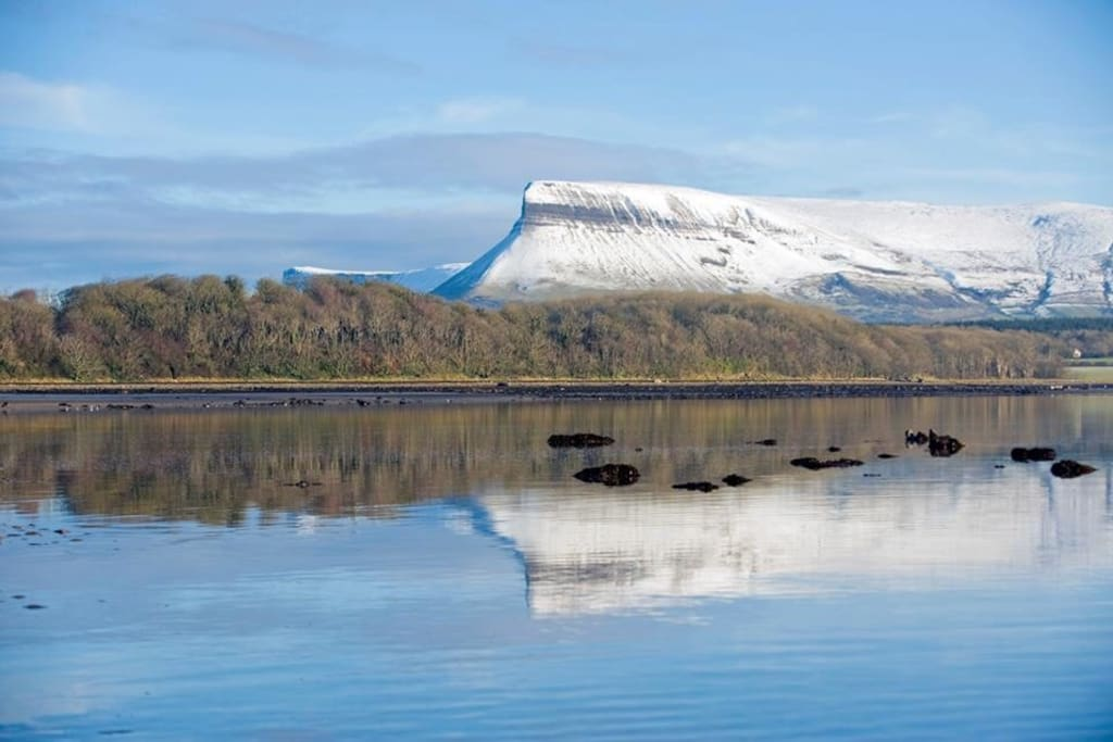 Benbulben in winter, seen from Lissadell