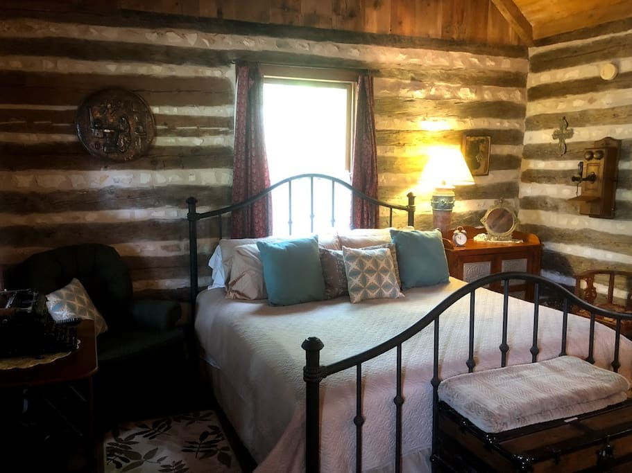 The cabin's king size bed