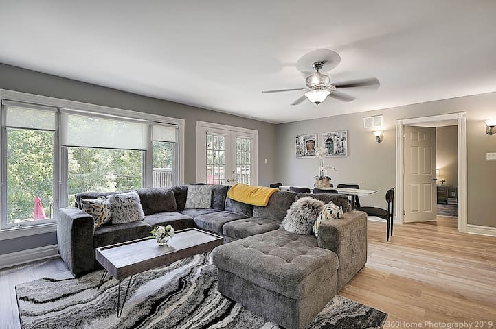 Bright, Spacious, Open Concept Living, Kitchen and Dining Room to enjoy all together.