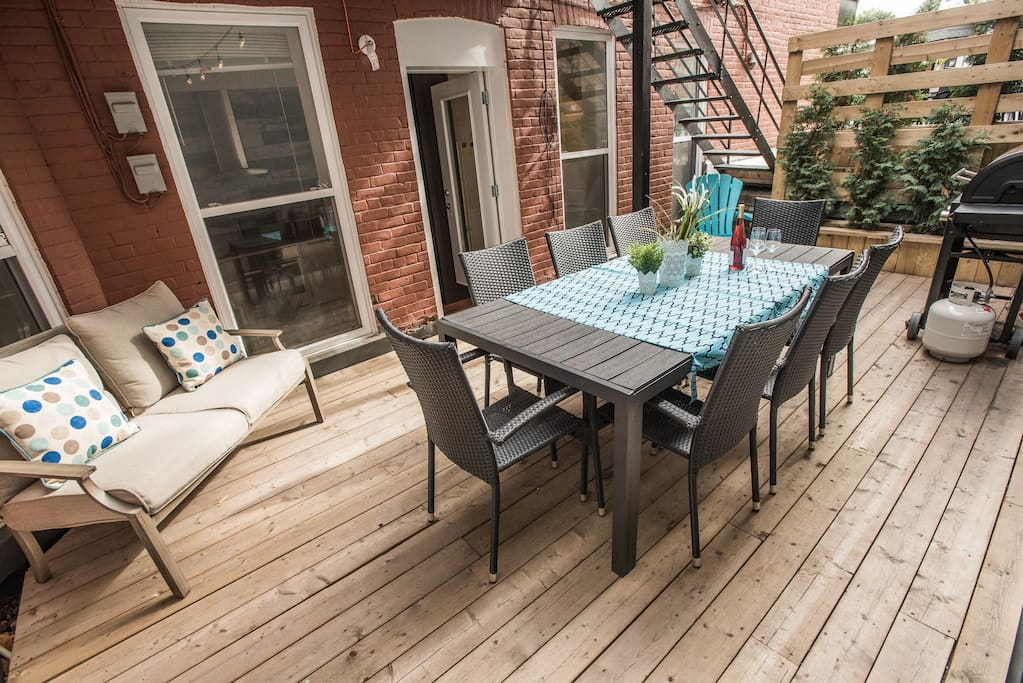 Your own private patio with BBQ (gas provided)!
