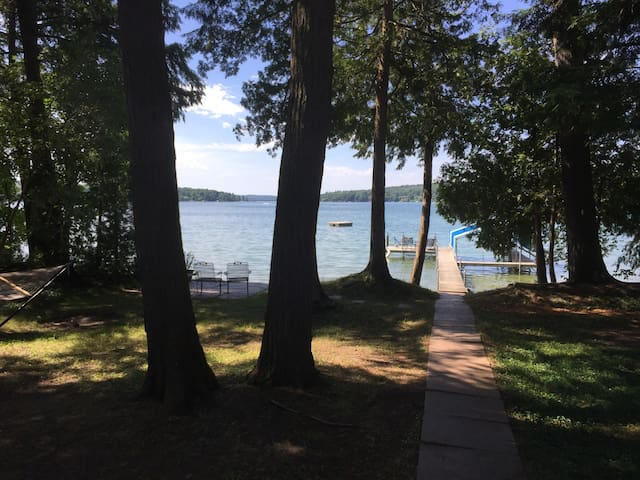Large Walloon Lake Waterfront Getaway
