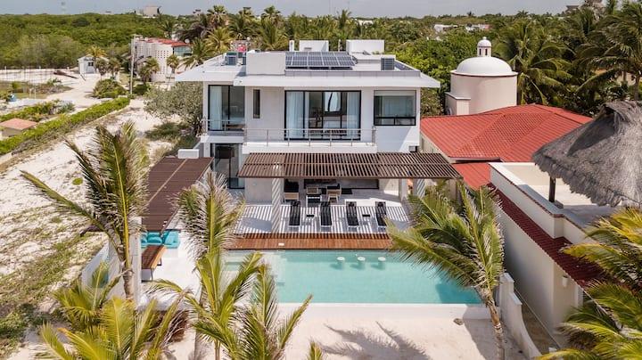 Villa Carrera - Ocean Front, white sand beach