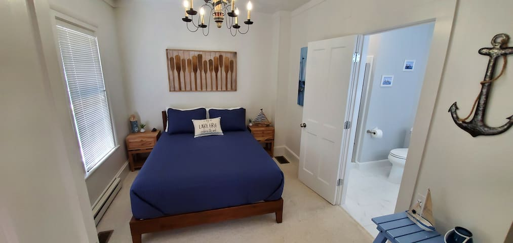 """Bedroom #3 - Shares Bathroom #2 with hallway. Has 32"""" TV, 4 drawer dresser, and small closet."""