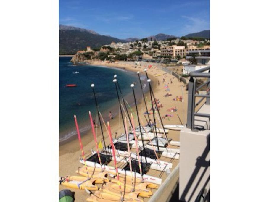 vue sur la plage du studio