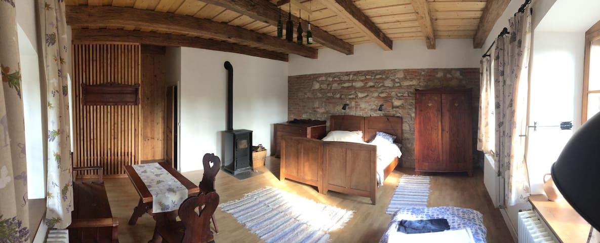 Tágas szoba felújított parasztház/1 - Zirc - Apartment