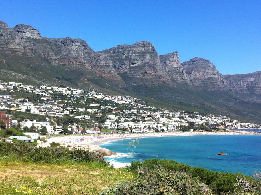 Beautiful Camps Bay beach just a few minutes down the road