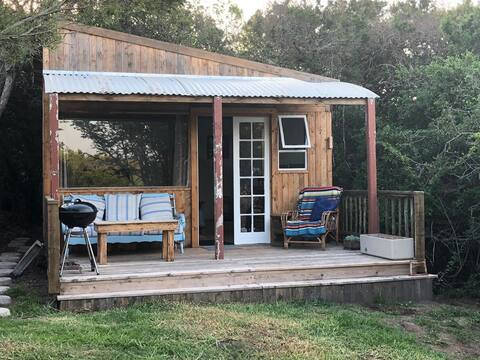 Unique Eco-cottage on a small Farm near the Ocean
