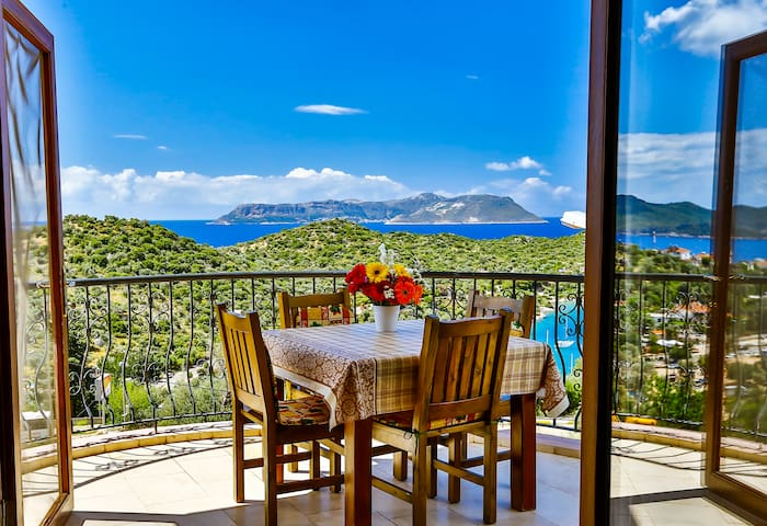 Gorgeous 2 bedroom Seaview Apart - Kaş - Lejlighed