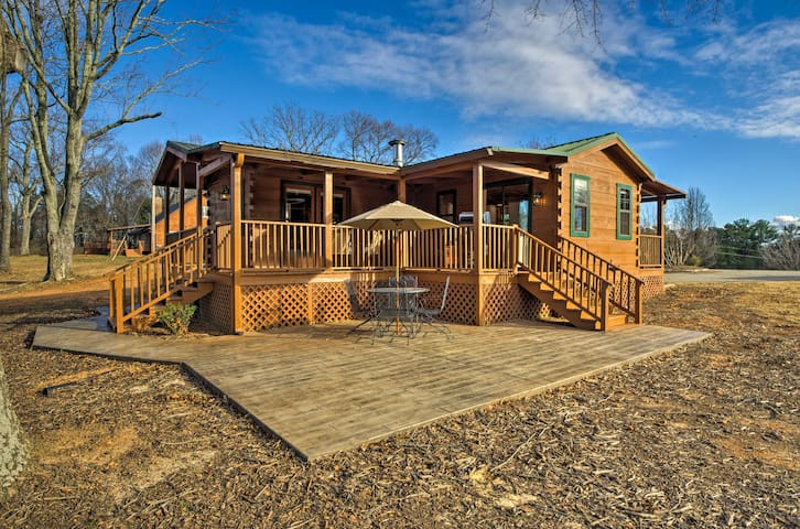 Updated Landrum Log Cabin on 10 Acres w/Mtn Views!