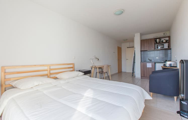 LUMINOUS AND EQUIPPED STUDIO IN GRENOBLE- VIEW ON THE MONTAINS (410)