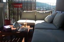 Large balcony & fantastic views