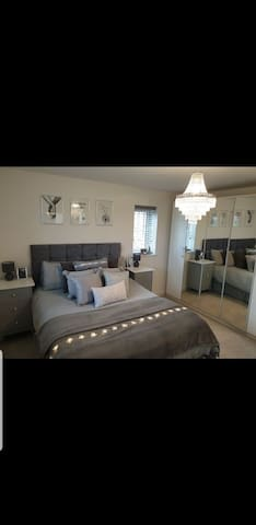 Beautiful bedroom with king size bed and ensuite