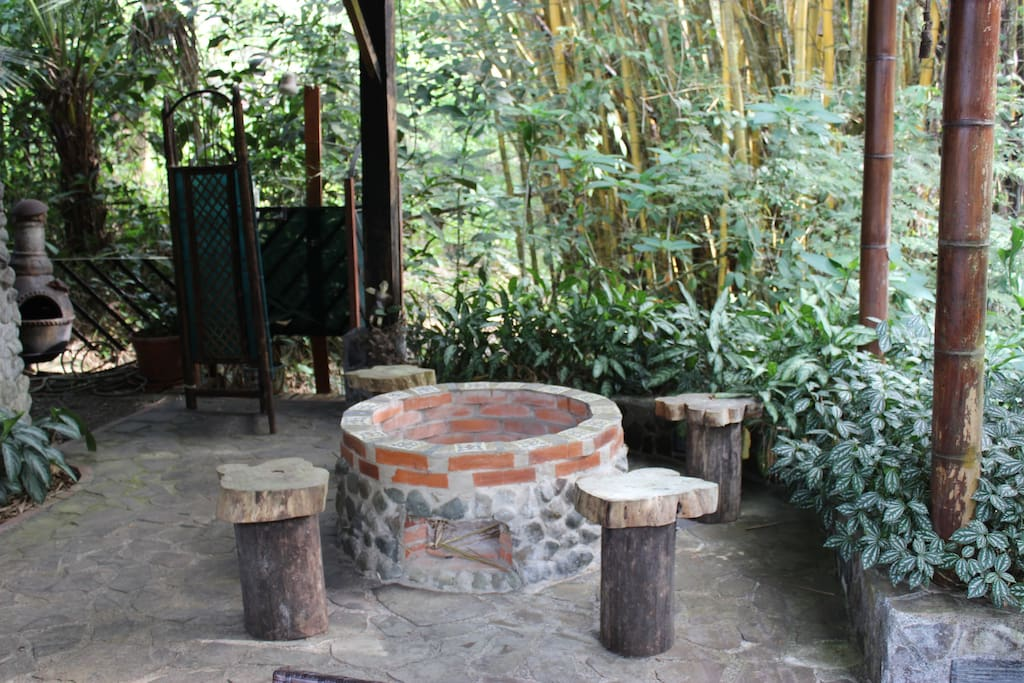 one of 2 fire pits on the property
