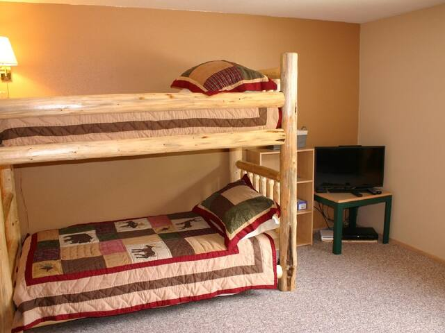 Upstairs Bedroom with twin bunks