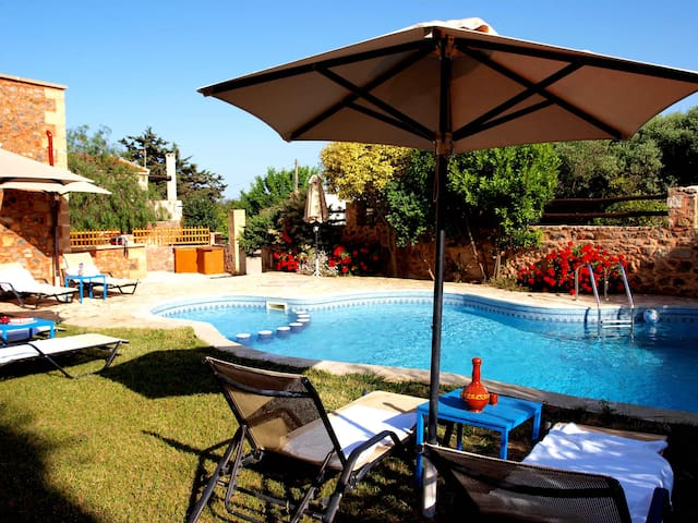 Villa Georgios shared pool,3bedrooms,seaview,BBQ - Astratigos - Villa