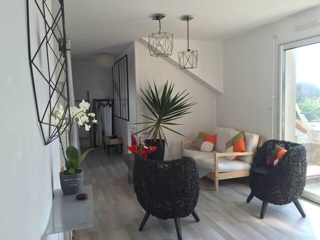 T2 terrasse plein sud,à proximité de Nantes,Stylé! - Saint-Sébastien-sur-Loire - Apartment