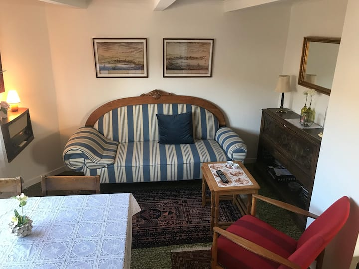 Cozy old house 15m walk from airport .Free parking