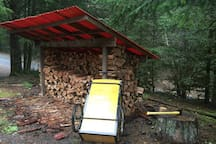 Here is your fire wood station.