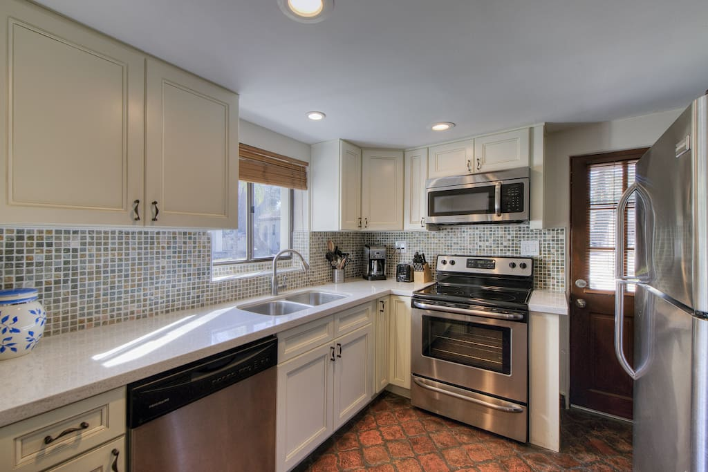 Beautifully redone kitchen with new stainless steel appliances