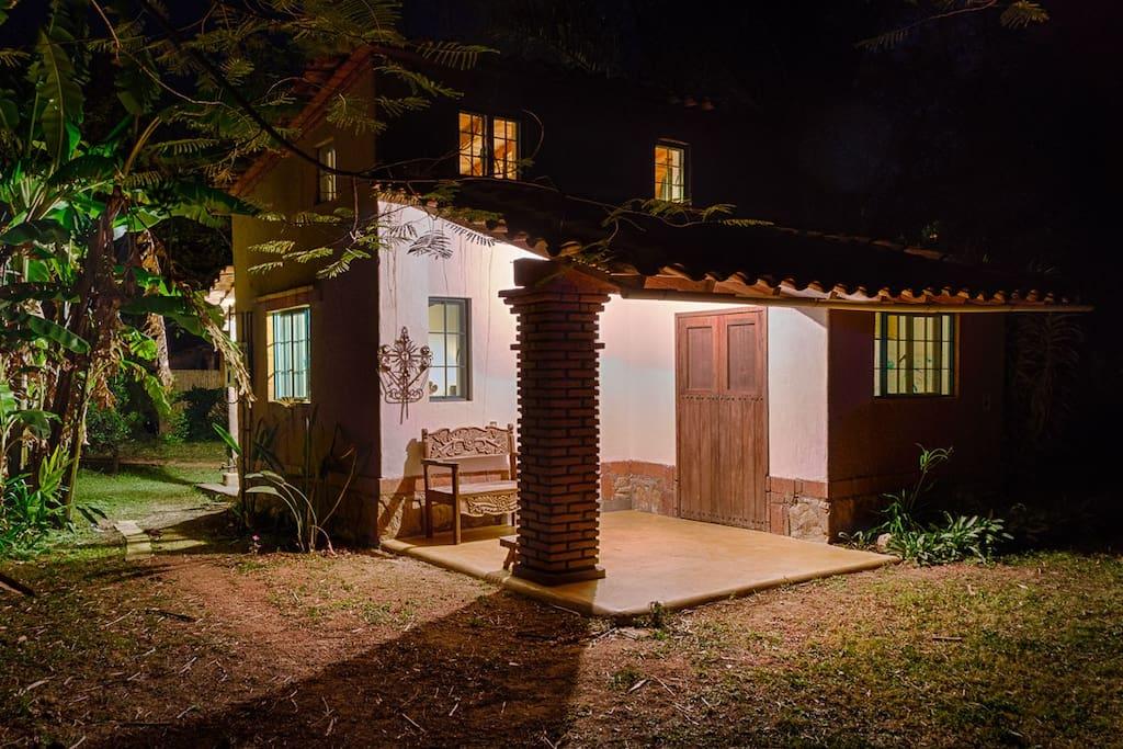 Casa Carrizo by night.