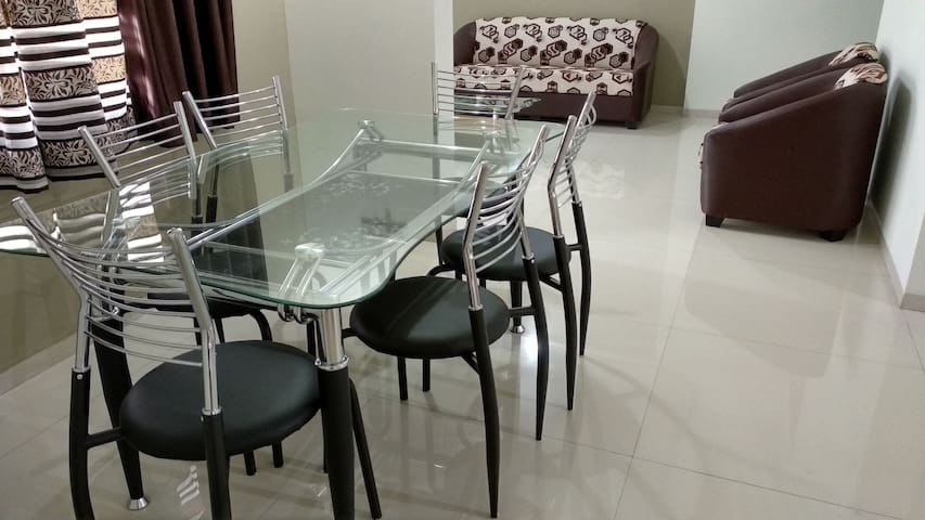 Entire 2 Bhk furnished serviced apartment.