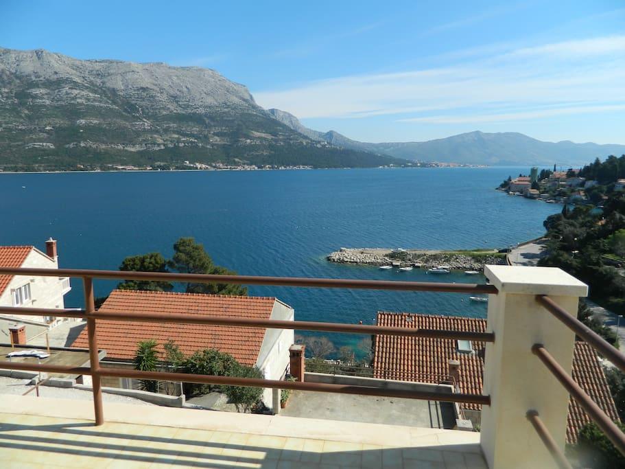 Panoramic view-terrace.