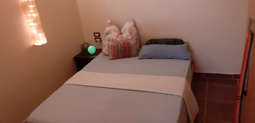 1,40 bed in the other bedroom. Very nice and warm atmosphere