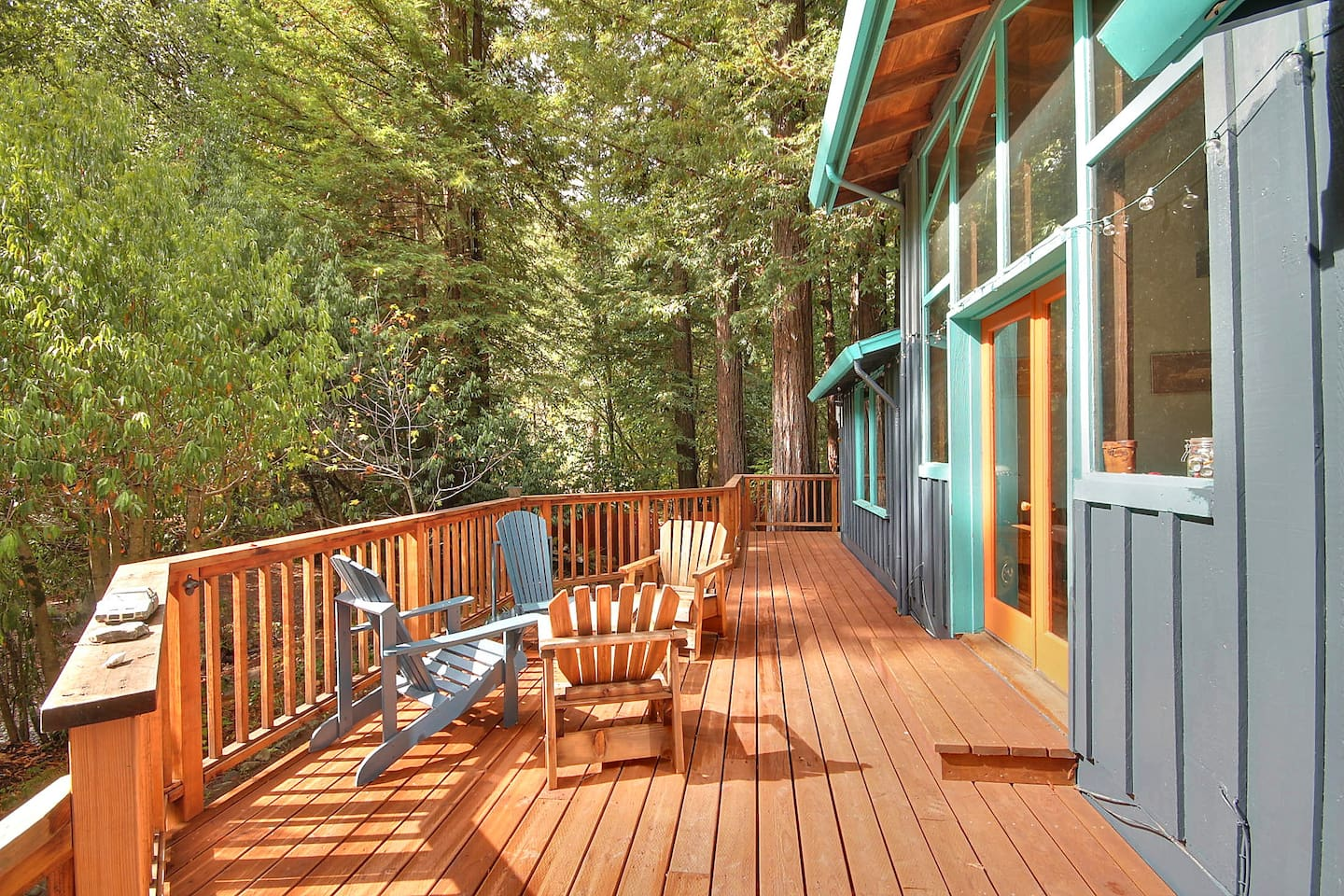 enjoy the deck for morning coffee or an evening glass of wine.