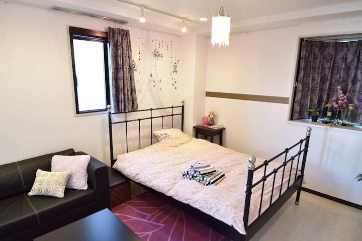 Good location Azabu 2min #601 Wide studio & Wifi - Minato-ku - Appartement