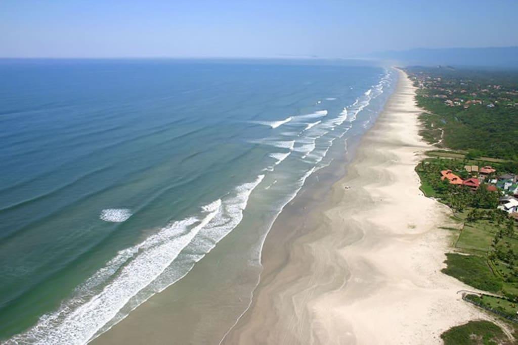 Vista aérea da praia de Guaratuba