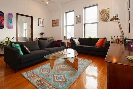 Sunny and Spacious Wicker Park Room
