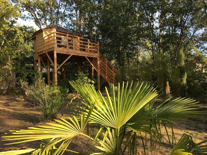 Cabane dans les arbres et studio dans la verdure