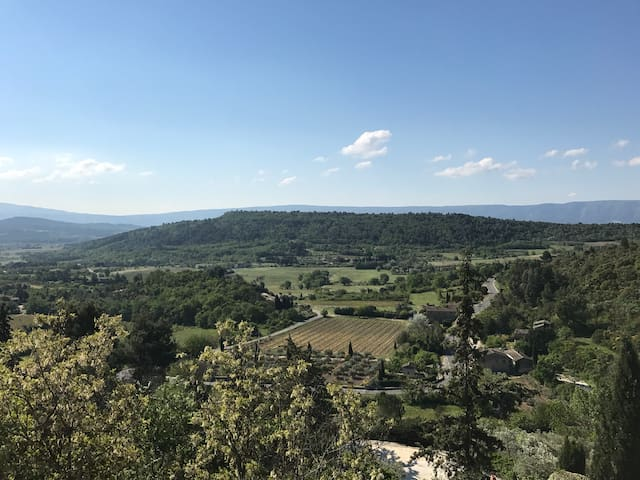 Vue du Luberon depuis l'entrée/View of Luberon Valley from the doorsteps