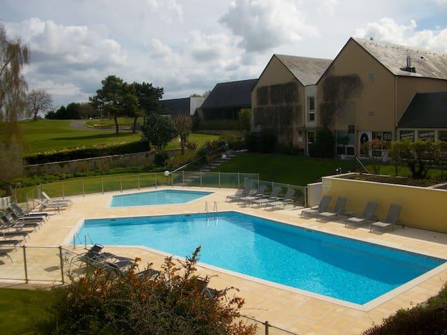 appart 4pers. piscine ,sauna , hamm - Port-en-Bessin-Huppain - Apartment