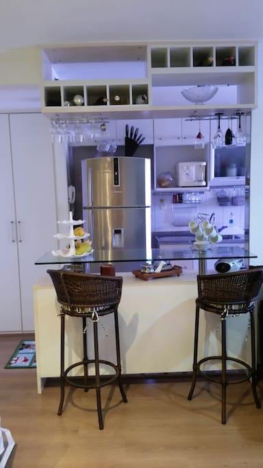 bar anexo sala cozinha