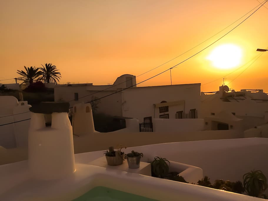 Glorious Sunrise from our roof terrace