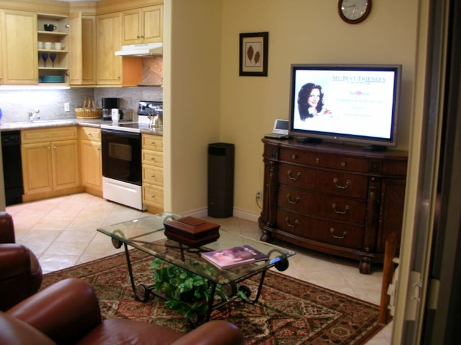 Entertainment Center + Kitchen