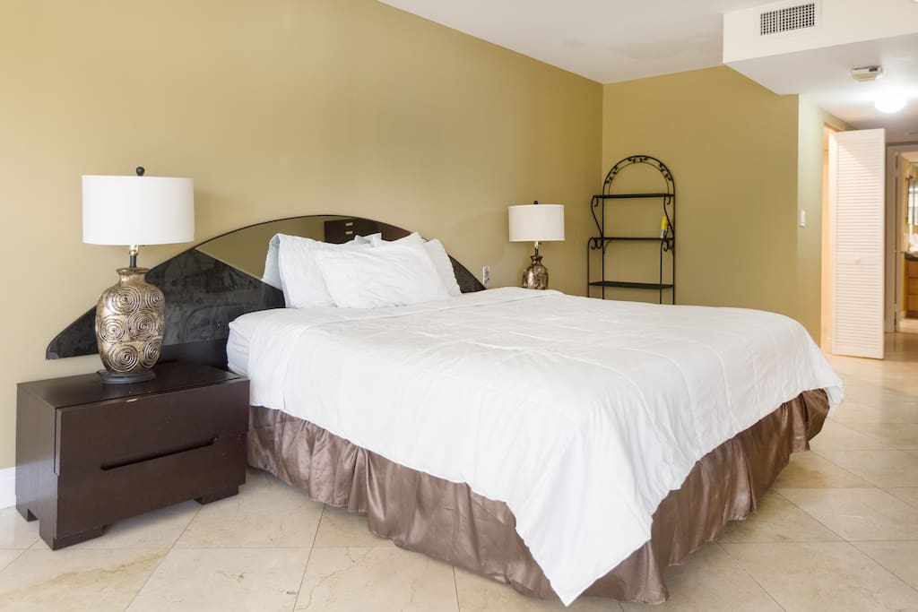 very large master bedroom and king size bed