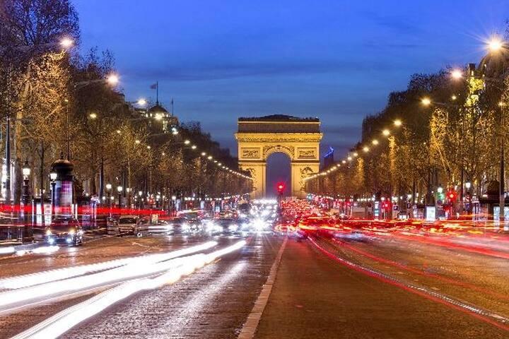 Studio Paris Champs-Élysées (3 stations métro=4mn)