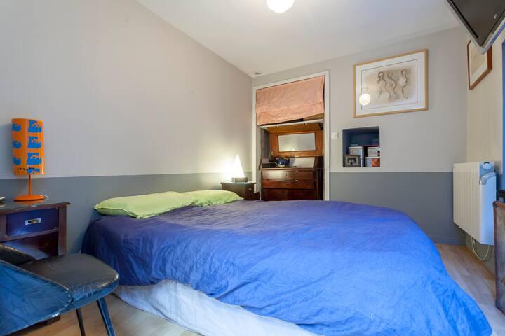 Chambre parent avec lit double 160x200 cm, Tv, très calme
